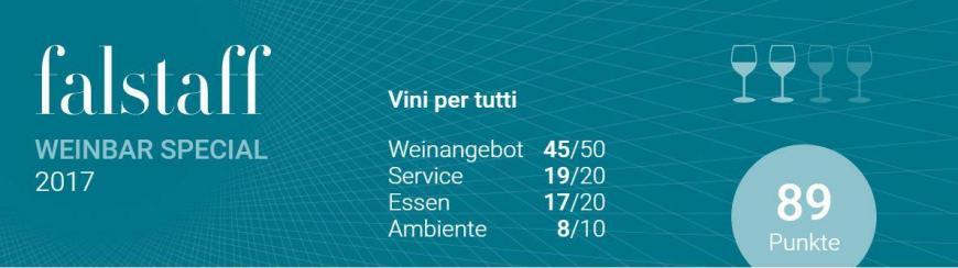 Falstaff Special: Vini per Tutti eine der besten Weinbars in einer Vinothek in Österreich